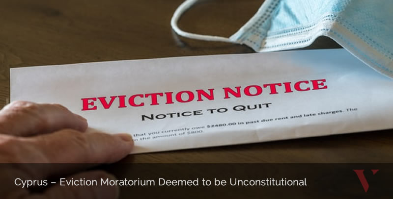 Eviction Moratorium Deemed to be Unconstitutional