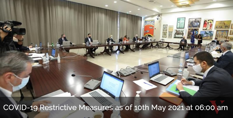 COVID-19 Restrictive Measures as of 10th May 2021 at 06:00 am