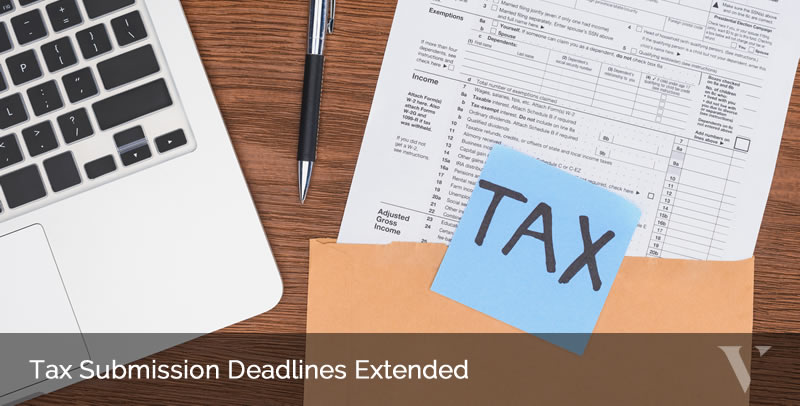 Tax Submission Deadlines Extended